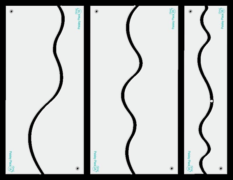 Paisley Place designer template border set.
