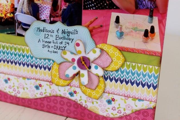 Close up 2 Happy Birthday layout using springtime set