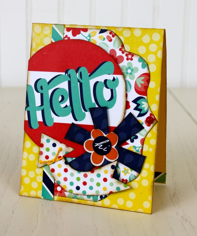 Hello Card featuring Tiny Explore