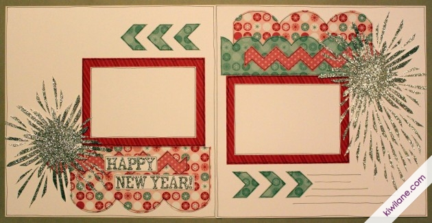 Happy New Year 2-page Layout