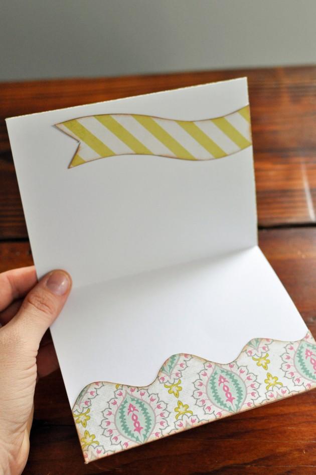 Как оформить обычную открытку внутри, диске своими