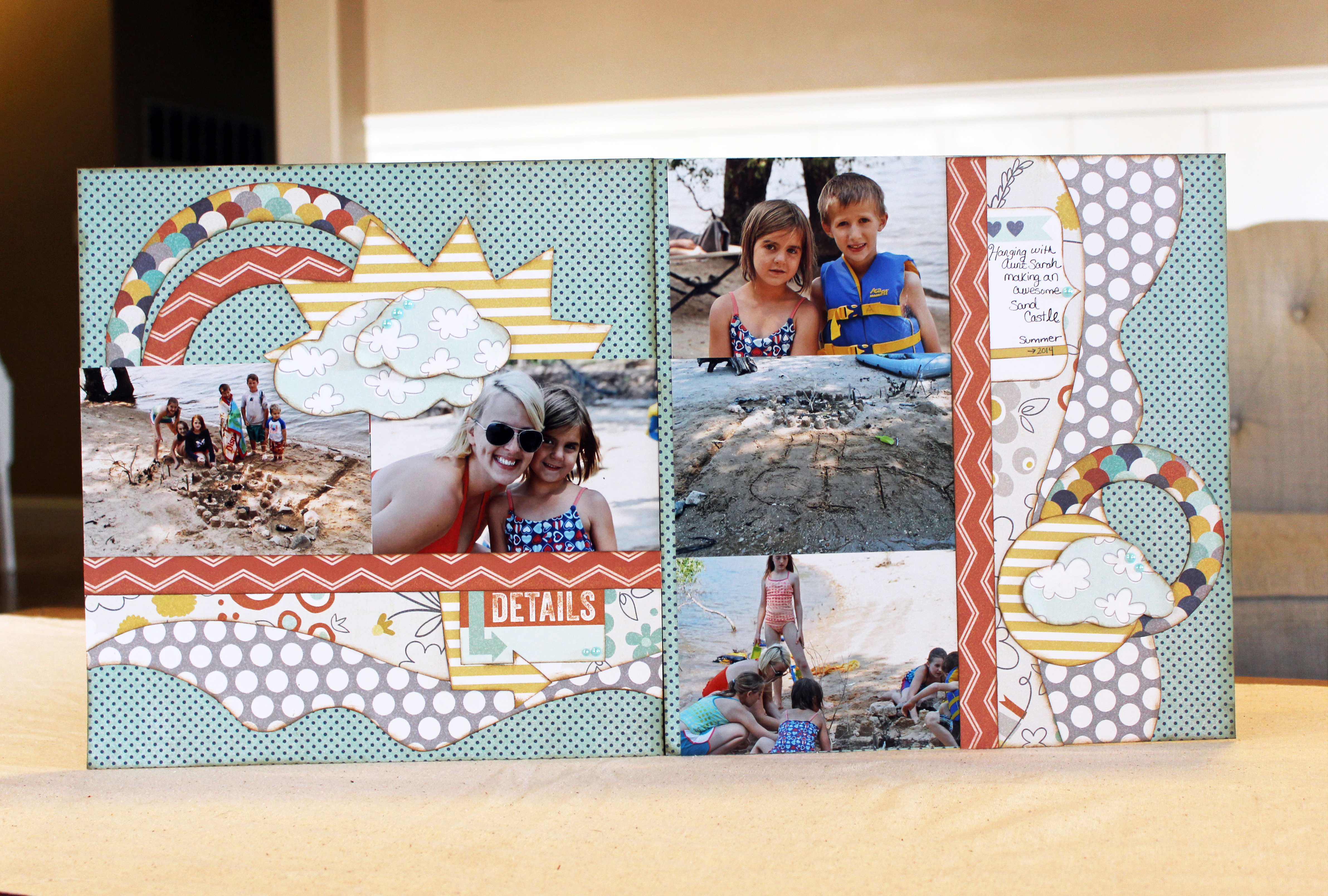 Sandcastle 2-page layout
