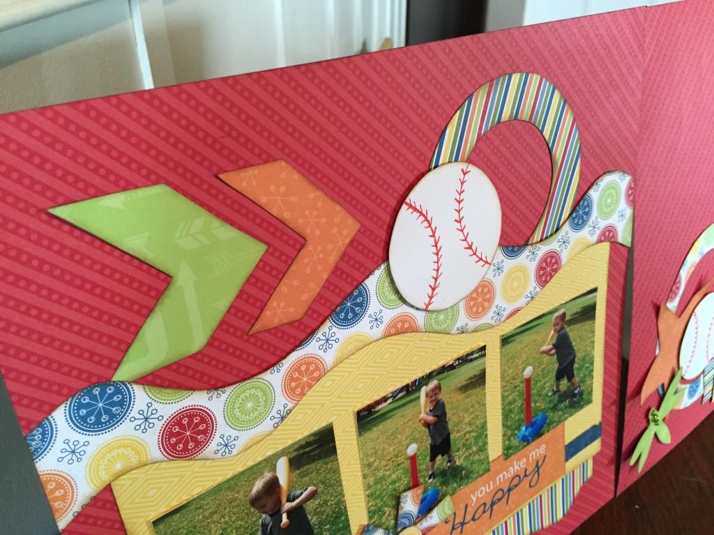 Baseball Happy Trails Closeup