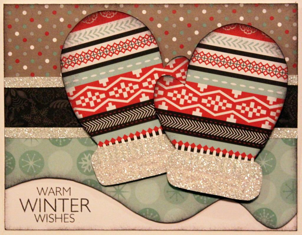 Warm Winter Wishes Mitten Card
