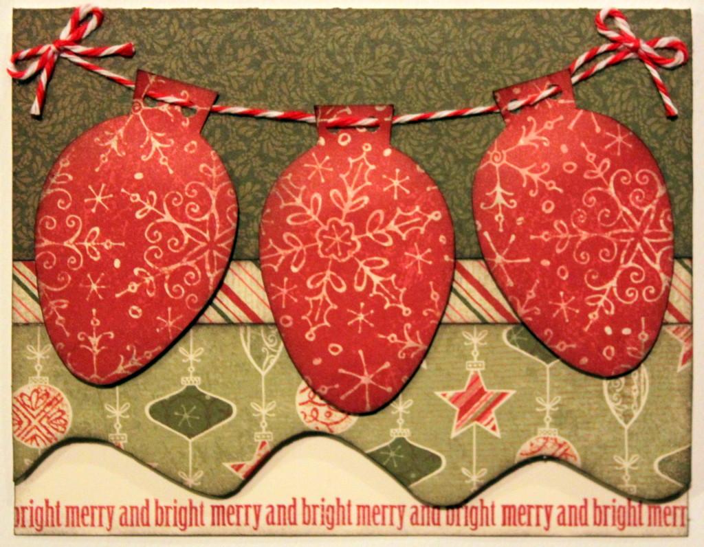 Merry & Bright Christmas Light Card
