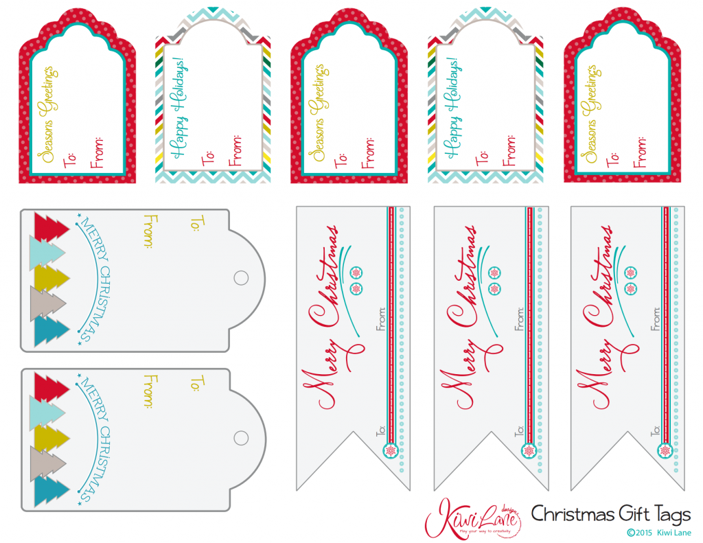 photograph about Free Printable Gift Tags Christmas identified as Xmas Reward Tags With Totally free Printables Kiwi Lane