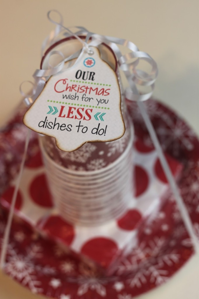 Gift Tag for Plates and Cups