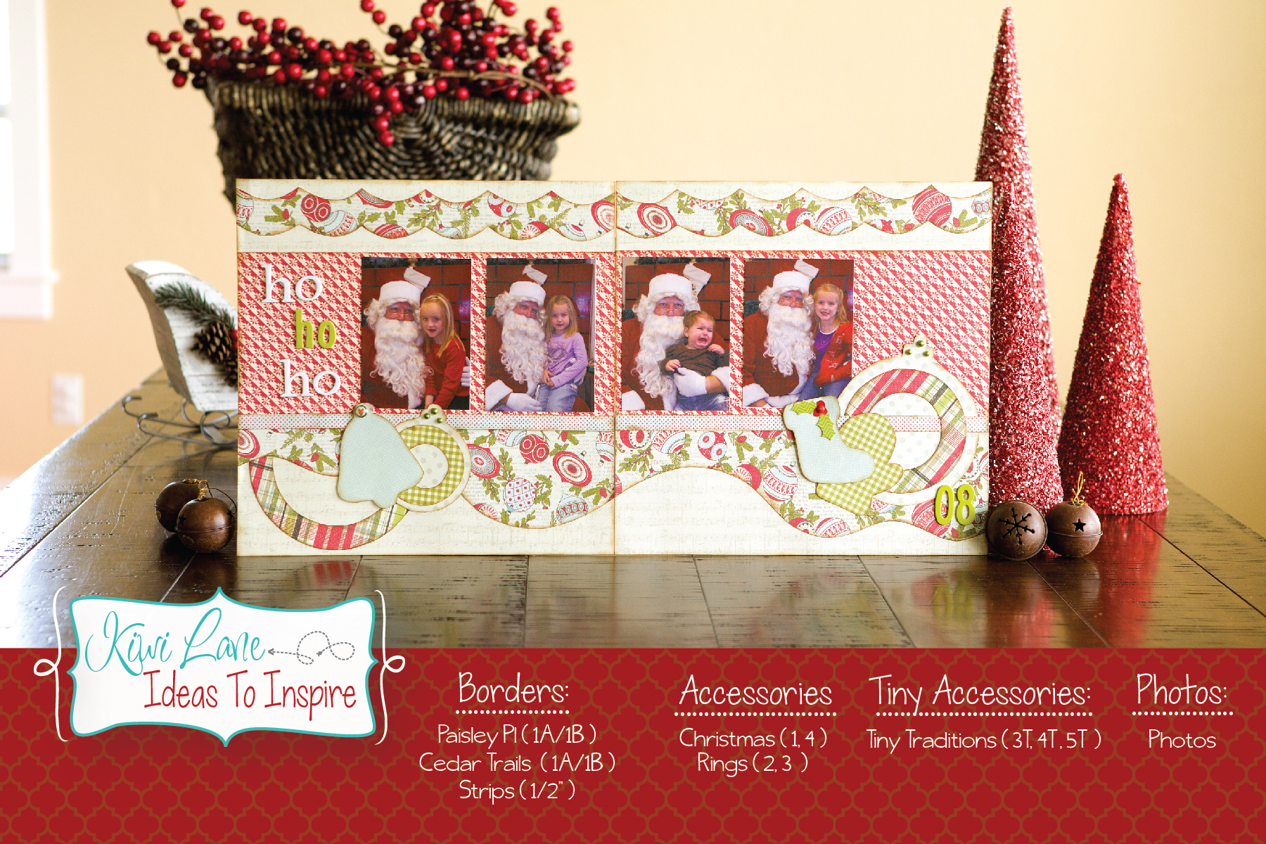 Ho Ho Ho Christmas Layout - Ideas to inspire