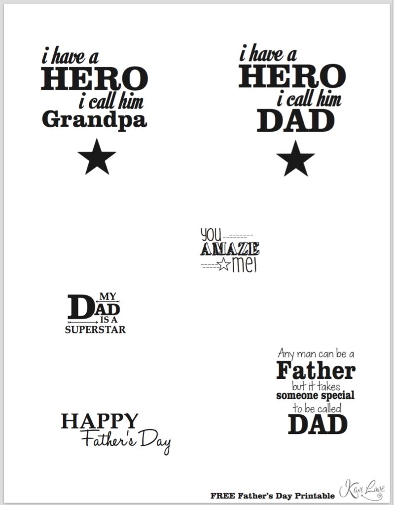 fathers day printable b&w