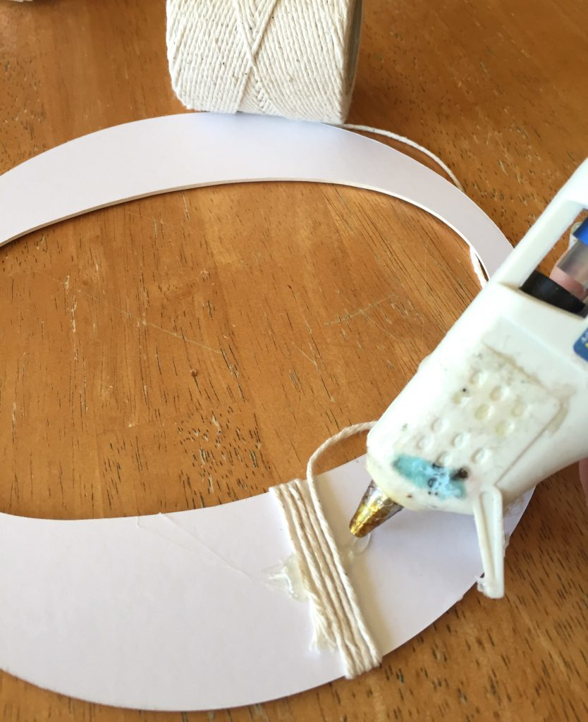 wrapping a letter in twine