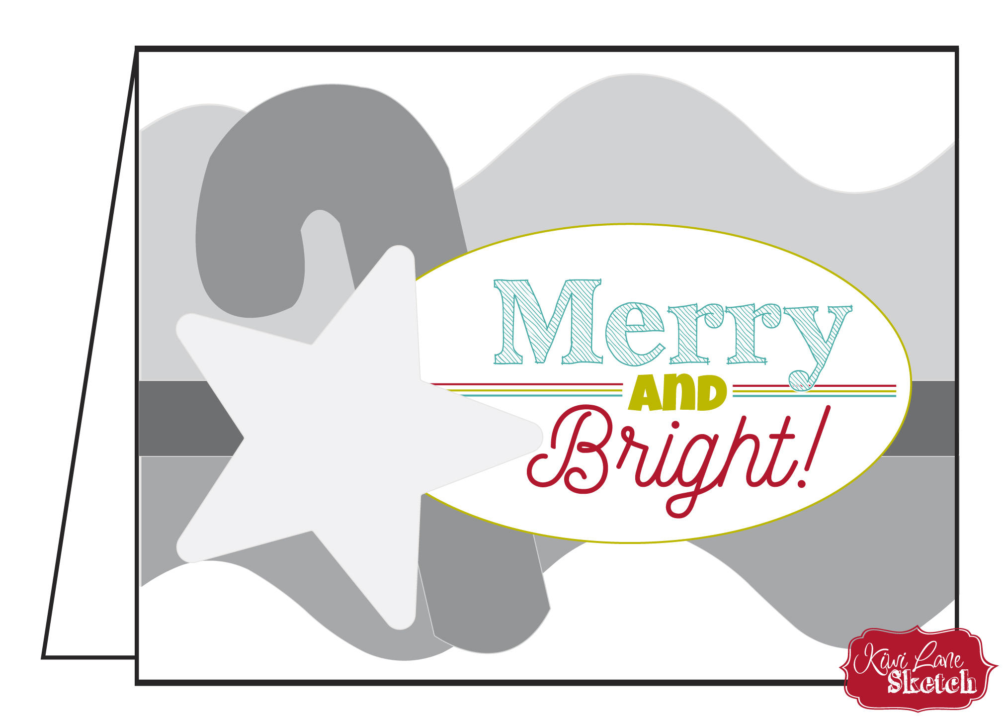 Merry & Bright Card Sketch