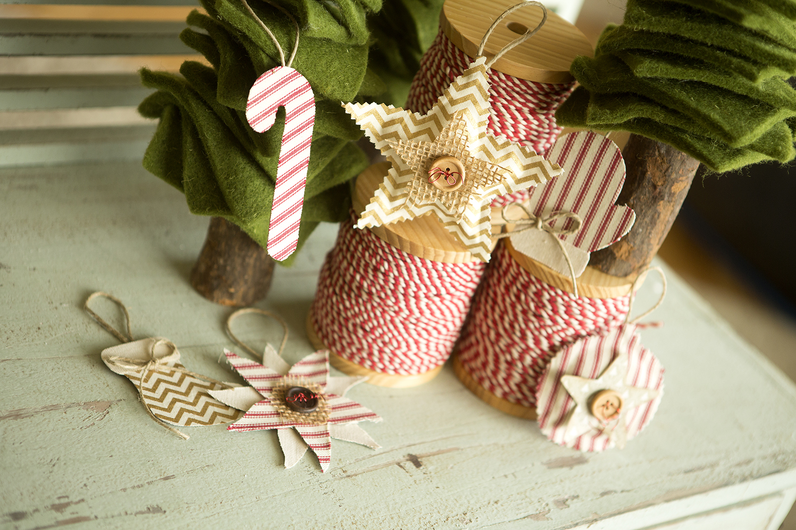 star, candy cane, ornament