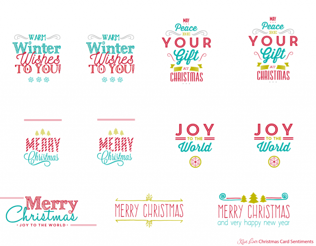 Merry and Bright Christmas Card Sentiments