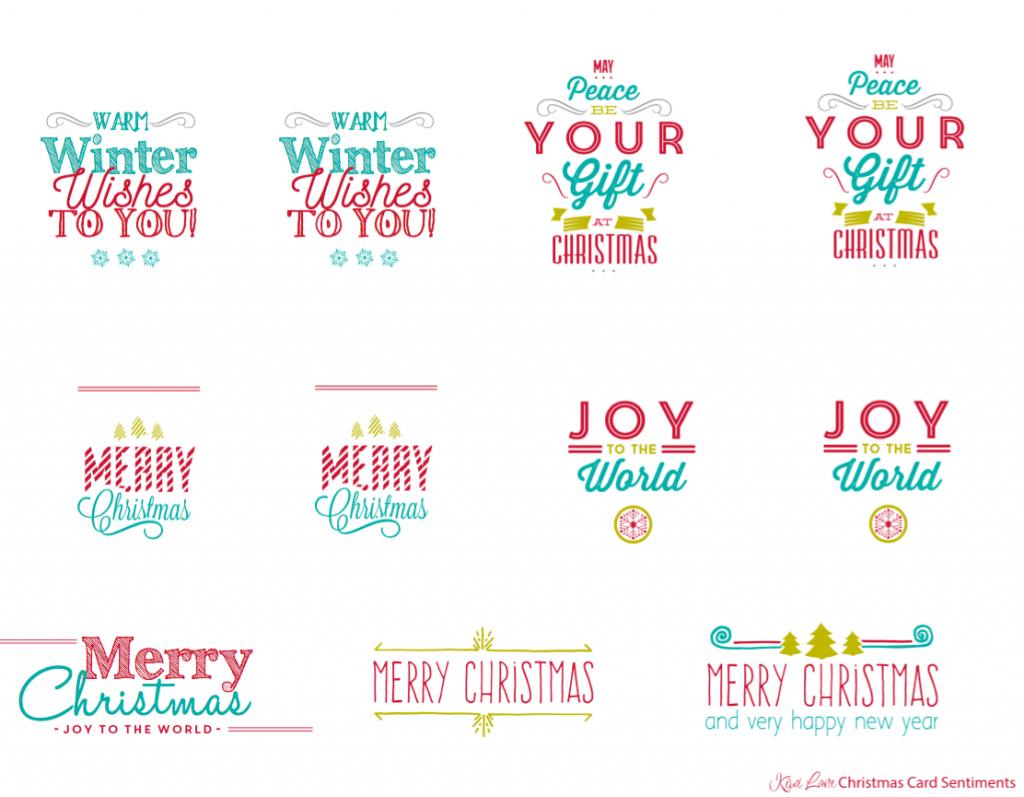 Christmas Sentiments For Cards.Free Christmas Card Printable Kiwi Lane