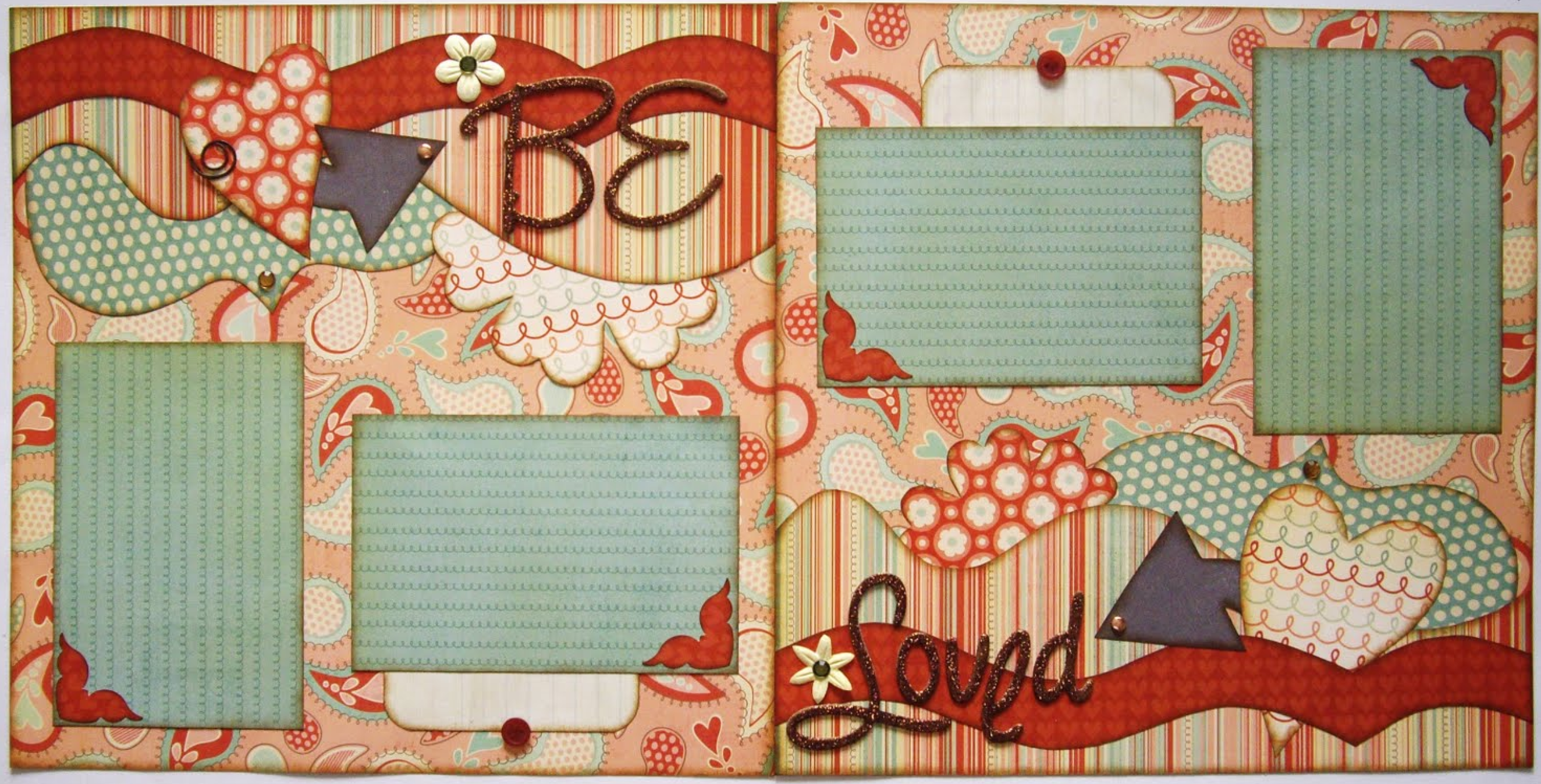 Be Loved 2-page layout Valentines Day