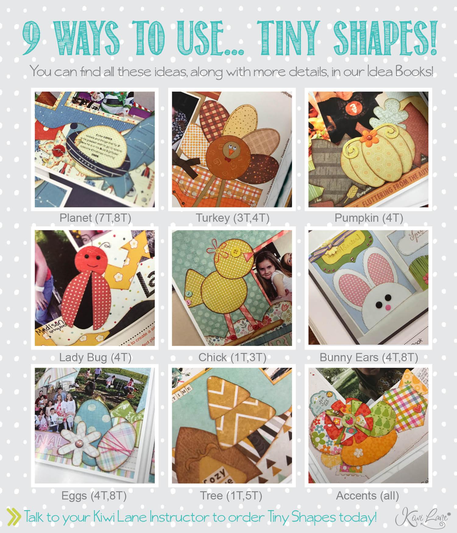 ways to use tiny shapes