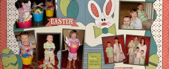 Wild and Free Easter Layout