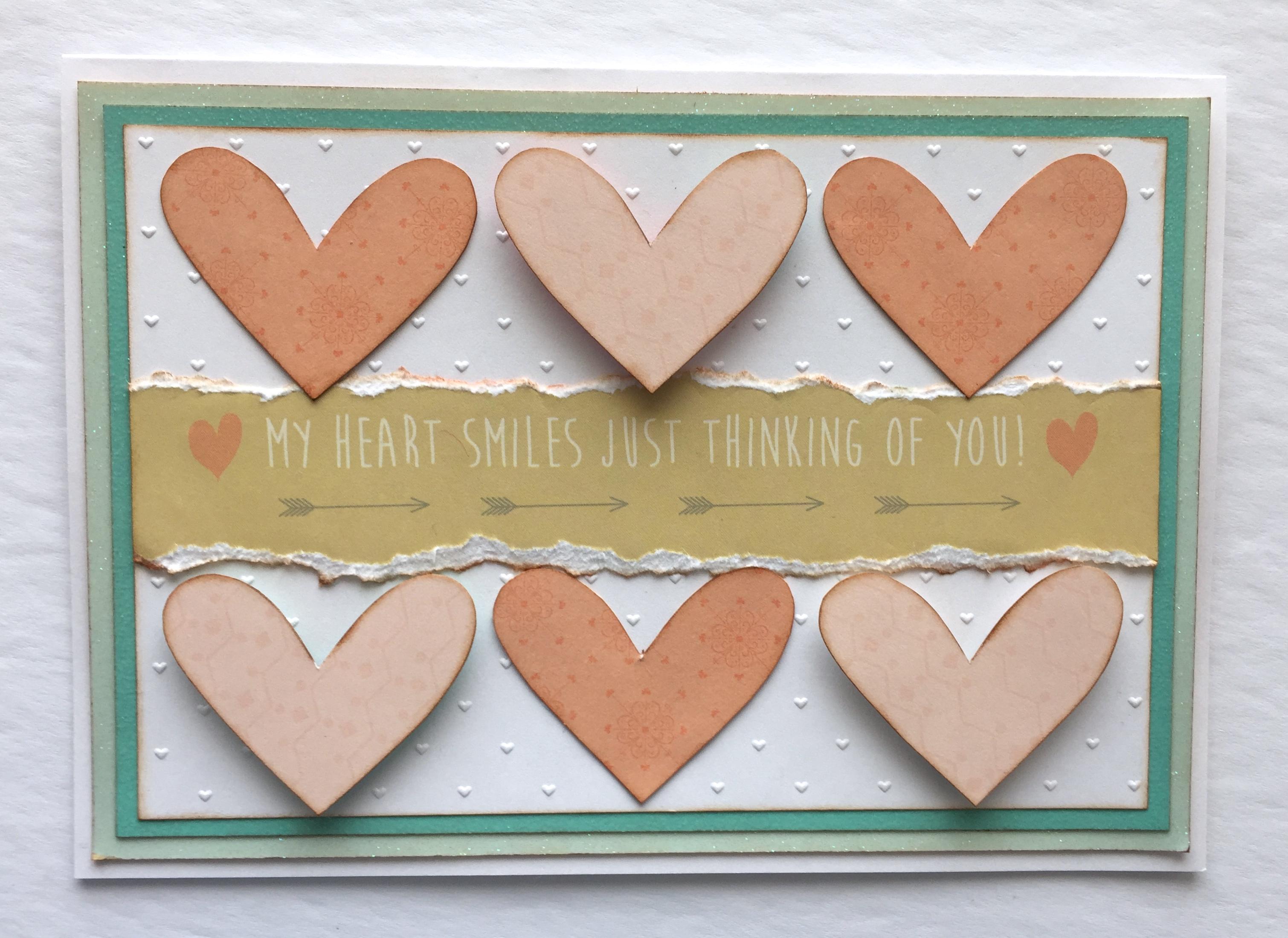 tiny charmed hearts card