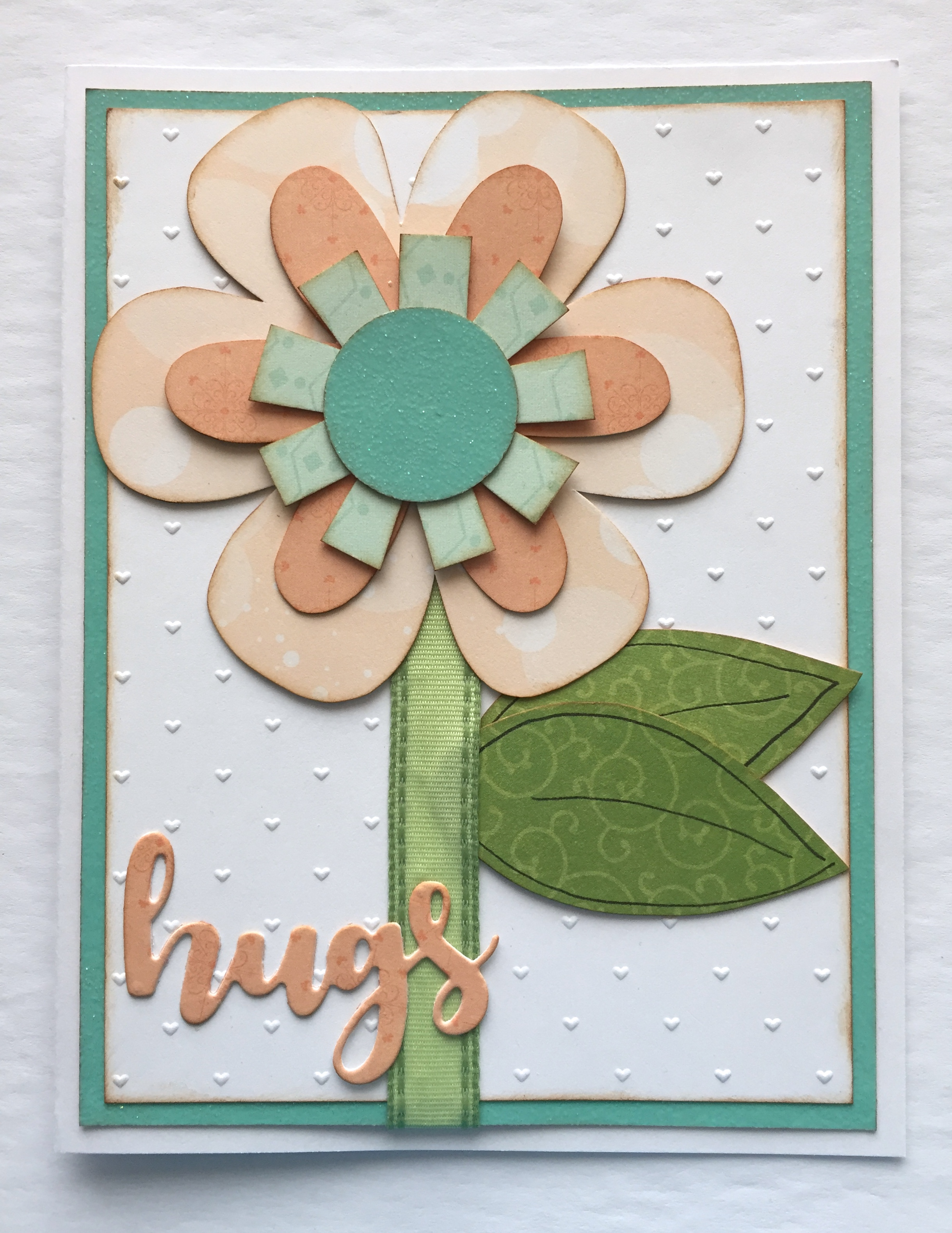 hugs flower card