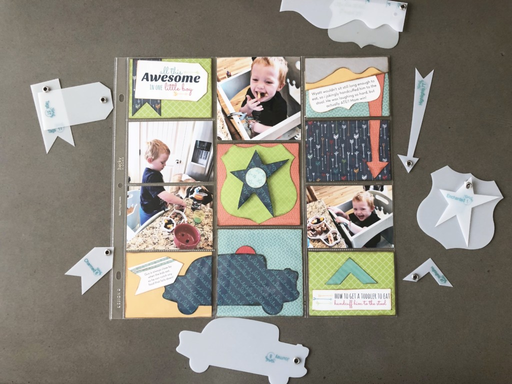 Awesome Little Boy - Thinking of you Kwik Card Kit Pocket Page Layout
