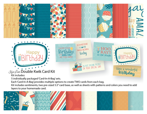 Happy Birthday Double Kwik Card Kit Shop Image