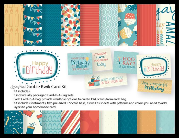 Happy Birthday Double Kwik Card Kit Shop Image