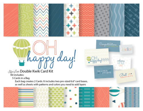 Oh Happy Day Double Kwik Card Kit Shop Image