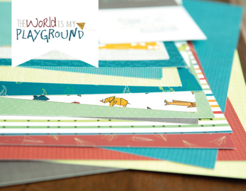The World is My Playground Double Layout Kit Shop Image