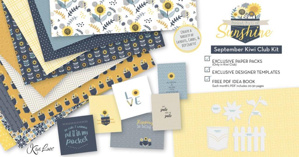 Paper Crafting Kit September 2020 Kiwi Club Shop Image